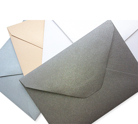 Old World flap envelopes in Curious Metallics