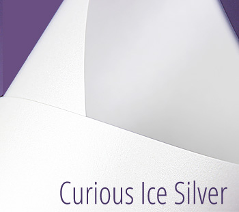 curious metallics ice silver paper