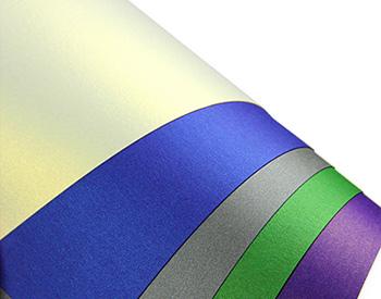 close up of Curious Metallics texture and color