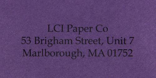 curious metallics violette sample printed envelope