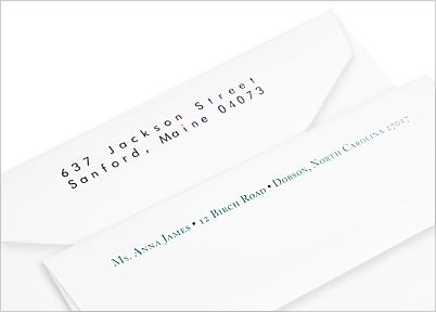 wedding envelopes with custom printed back flaps