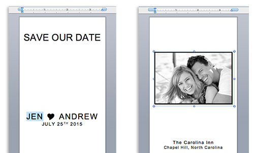 Customize calendar sticker save the date templates