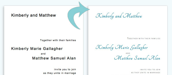 Customize templates for round corner wedding invitation cards