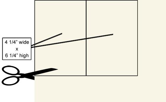 cut Ecru invitations from 8 1/2 x 11 sheet