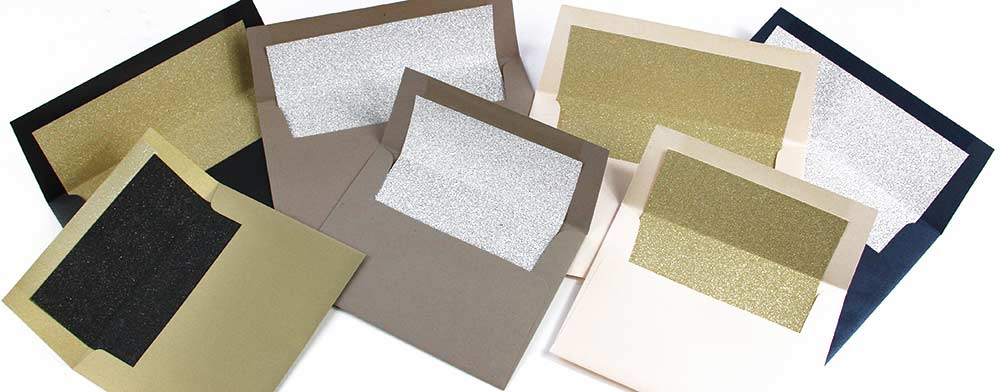 Make your own glitter lined envelopes through LCI Paper