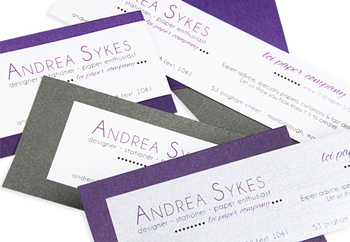diy layered business cards