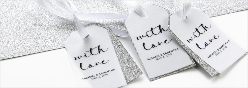 Step by step instructions to make your own glitter and vellum layered favor or gift tags