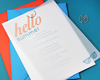 diy vellum party invite make your own summer invitations using vellum paper lci paper,Vellum Invitations