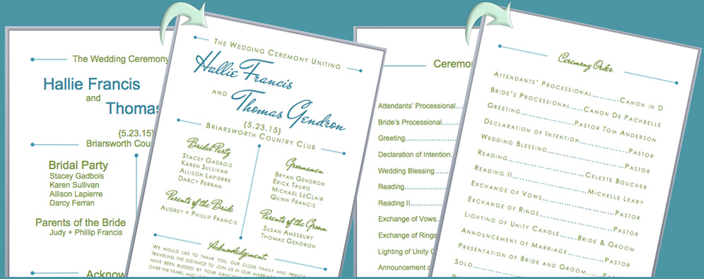 Free Wedding Program Fan Templates Word – Mini Bridal