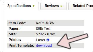 download program print template