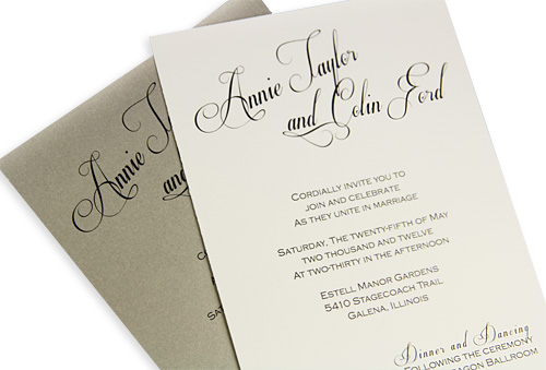 Diy wedding invitations with calligraphy look