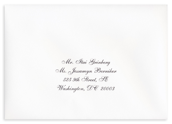elegant envelope addressing example white