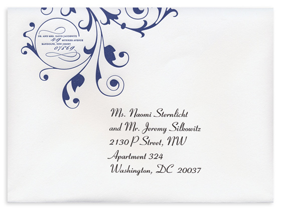 Elegant Envelope Addressing Example Blue Theme