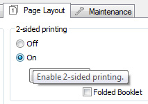 2 sided printing Epson print driver