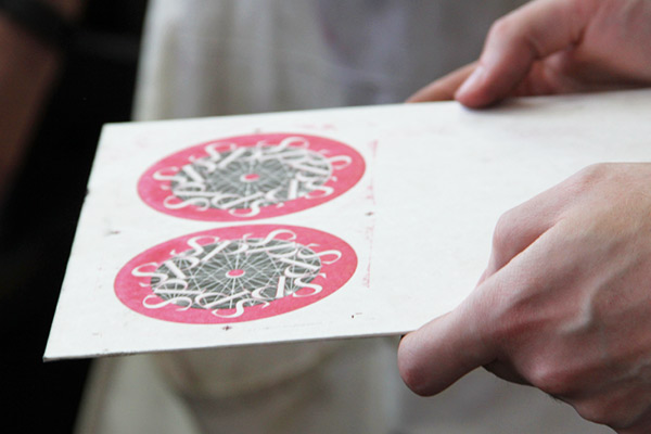 Examining alignment in letterpress masters class
