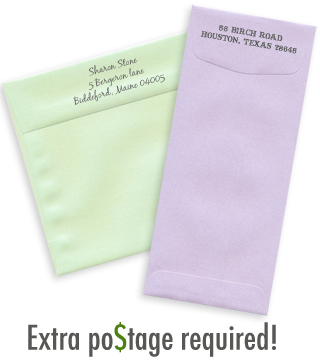 envelopes requiring extra postage