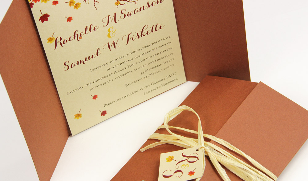 gatefold invitation wraps in dozens of hot new colors