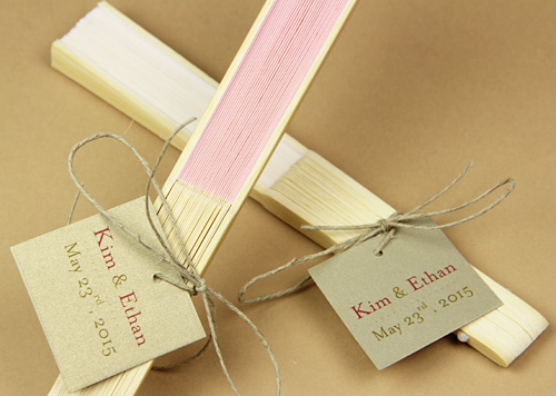 easy ways to decorate personalize wedding fans