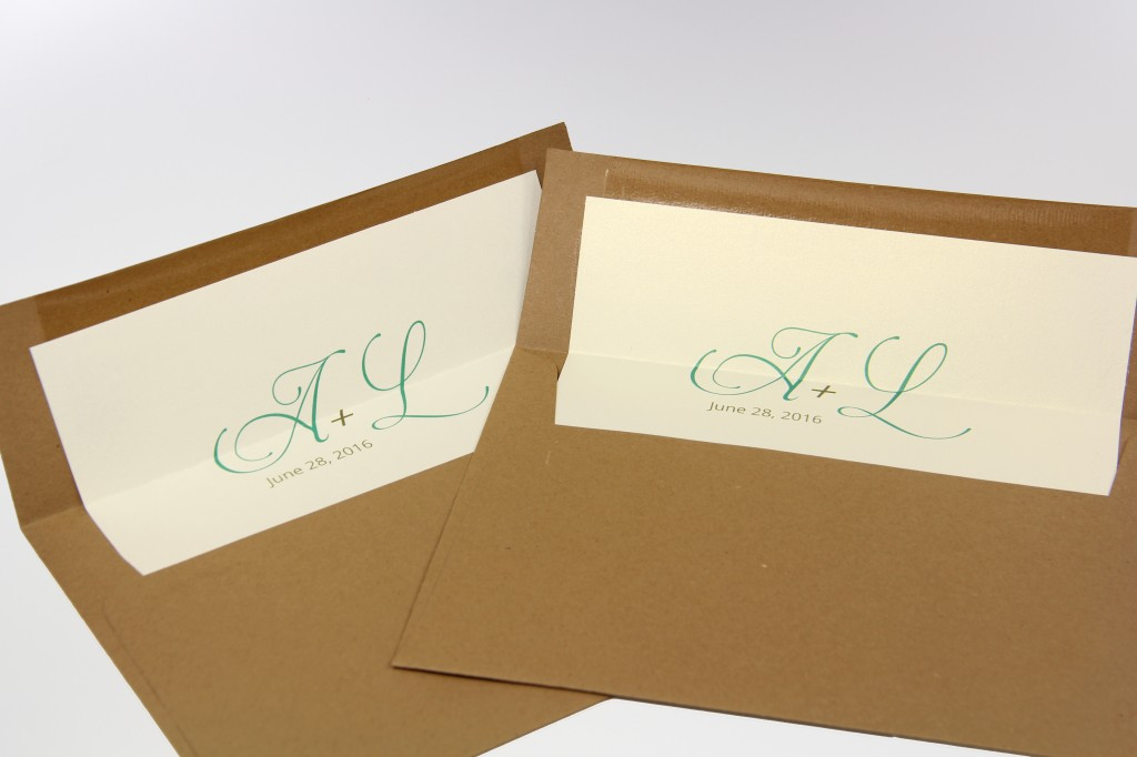 Finished lined envelopes