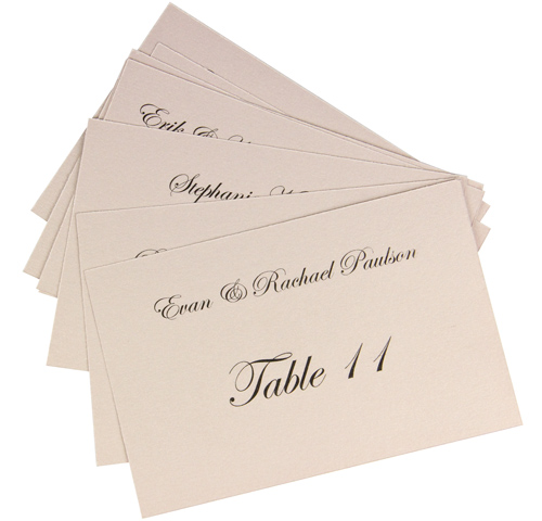 array of table seating cards