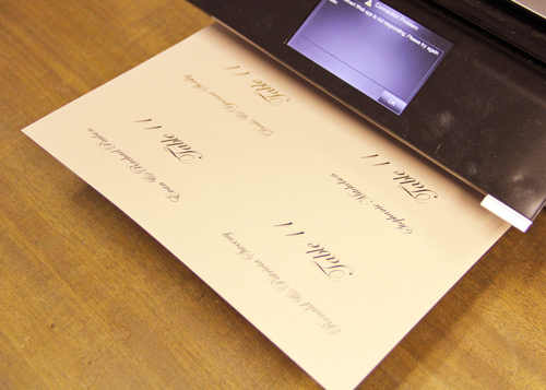 guest address template for flat place cards