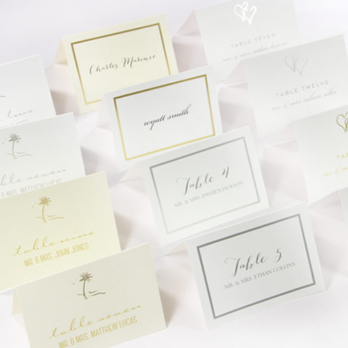 Gold or Silver Foil Printable Place Cards