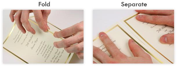 Fold separate computer printable invitations