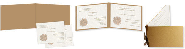 Components of booklet invitation
