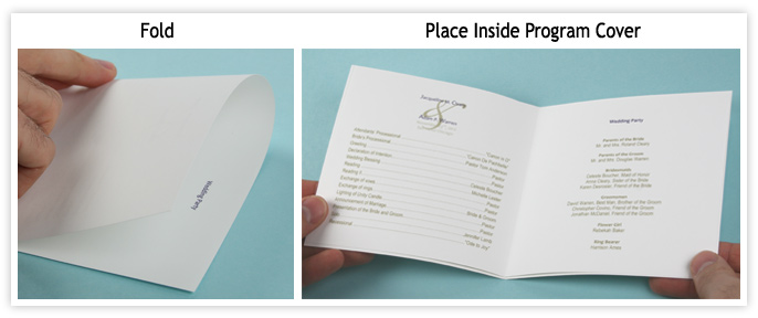 Fold Wedding Program Paper