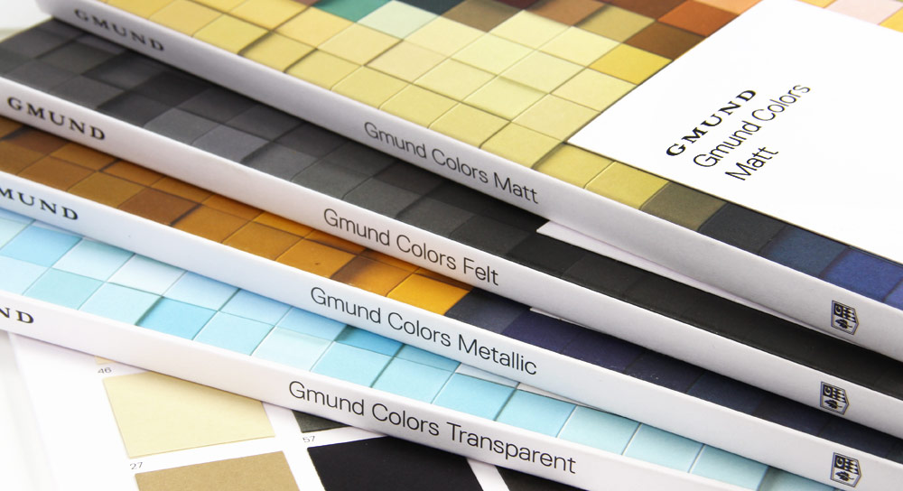 each full gmund colors swatch book set includes a 5 coupon good towards your next gmund colors paper order - Color Swatch Book