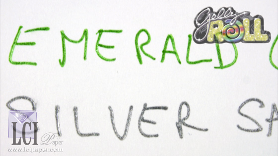 Metallic Gelly Roll pen on matte white card stock