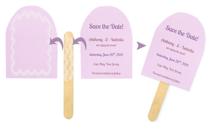 Popsicle Shaped Save the Dates-Perfect for a Summer Event!
