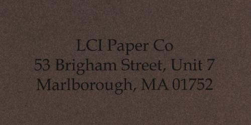 gmund colors chocolate smooth sample printed envelope