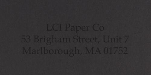 gmund colors ebenum smooth sample printed envelope