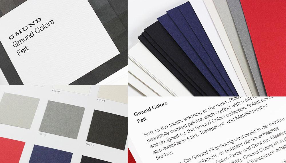 Gmund Felt Paper Collage