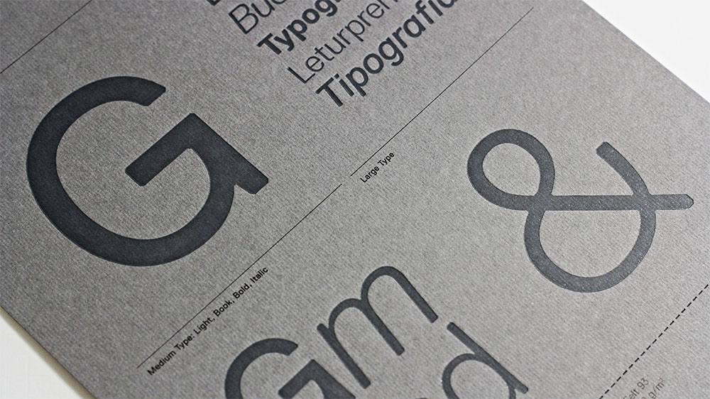 Like all Gmund papers, Felt is great for letterpress.