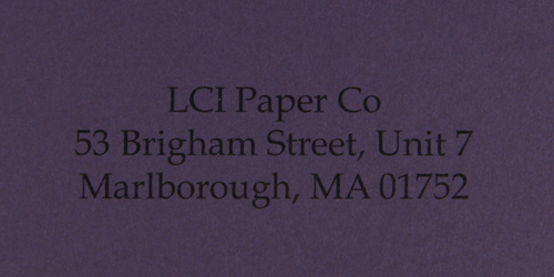 gmund colors grape smooth sample printed envelope