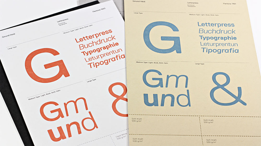 Gmund Heidi is perfect for letterpress. Check out these samples and try them for yourself.