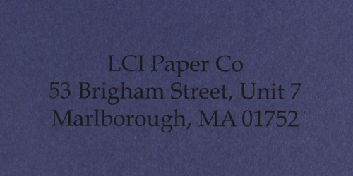gmund colors pelagus smooth sample printed envelope