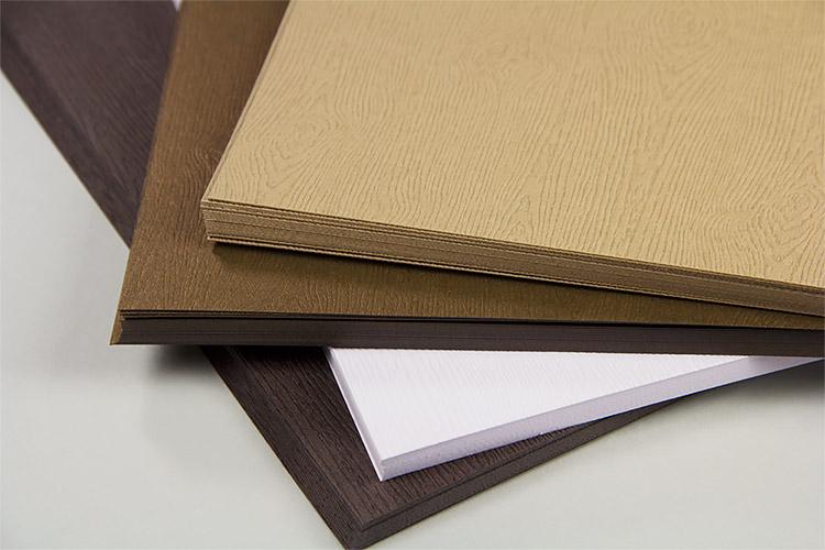 Gmund Savanna wood grain paper and card stock