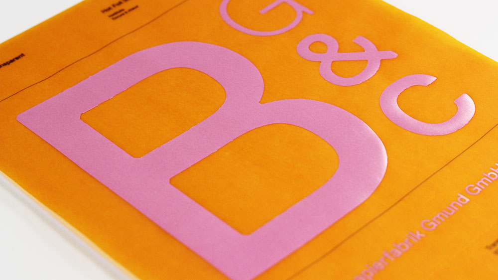 Gmund Colors Transparent is great for hot foil stamping, order a swatch book today from LCIPaper.com.