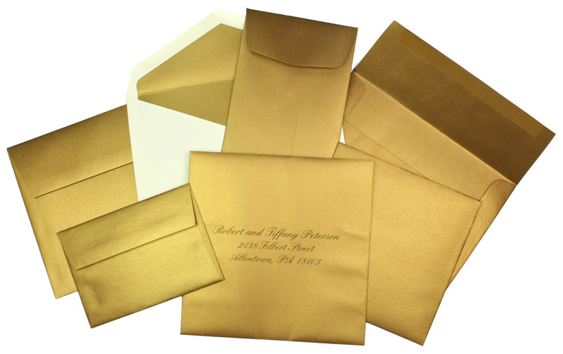 Array of Gold Metallic Envelopes