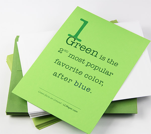 fun facts about the color green printed green paper