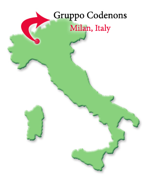 Gruppo Cordenons paper mill is in Milan, Italy