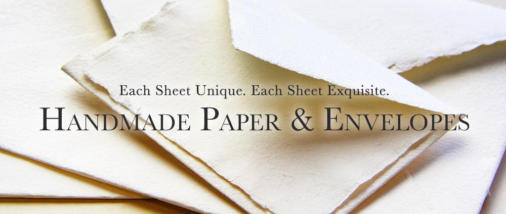 Handmade paper and envelopes for wedding invites, stationery
