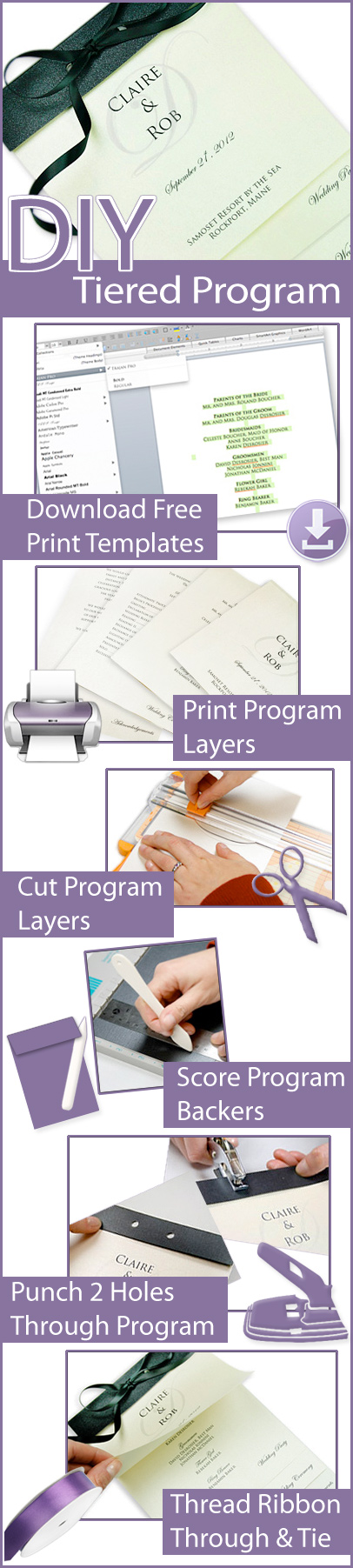 How to make a tiered and layered program fan infographic