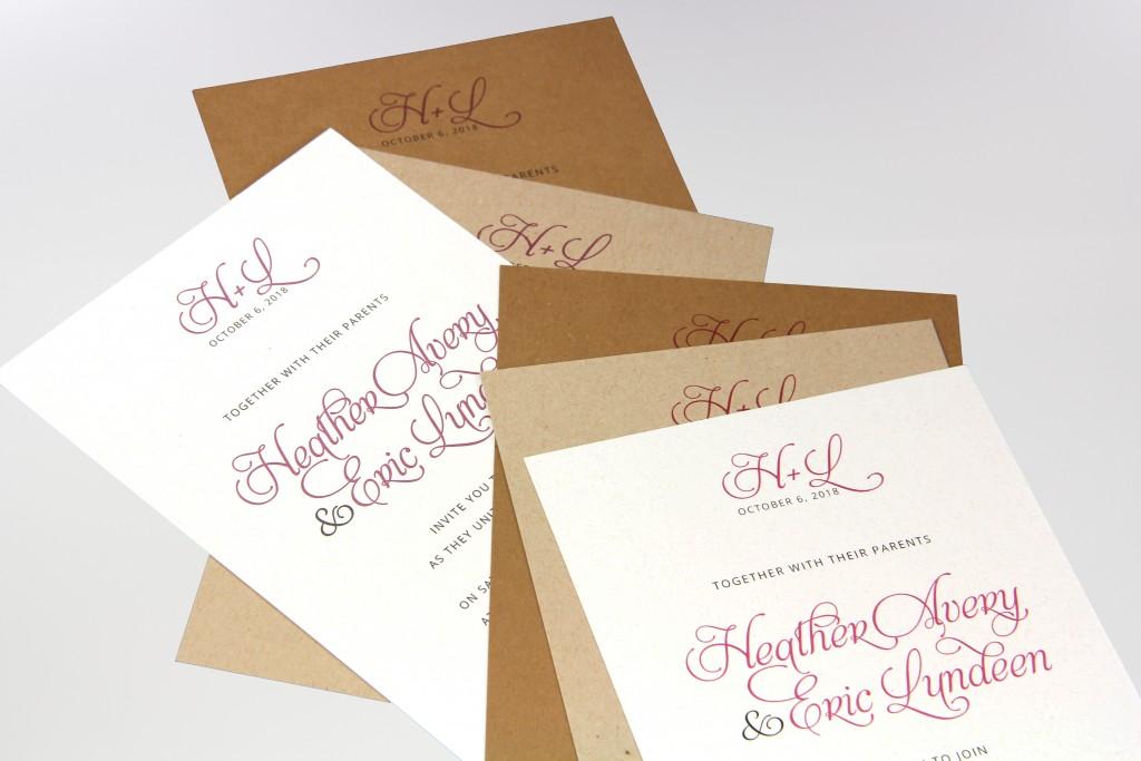 Printing on Kraft Paper Cardstock – Avery Invitation Card Stock