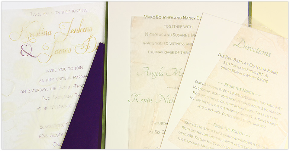 Use Tissue Inserts Or Vellum Overlays For Your Invitations
