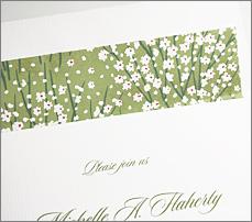 Japanese Chiyogami paper custom envelope liner green