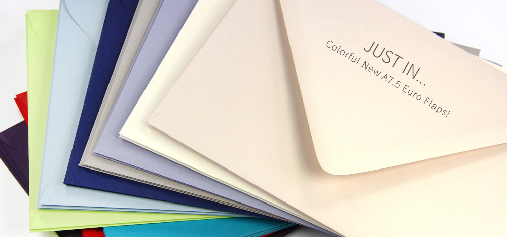 Colorful matte A7.5 euro flap envelopes now at LCIPaper.com